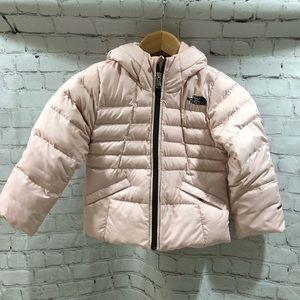 The North Face Girl's Pink Puffer Coat Size XXS 5